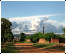 Image of country road in Zambia
